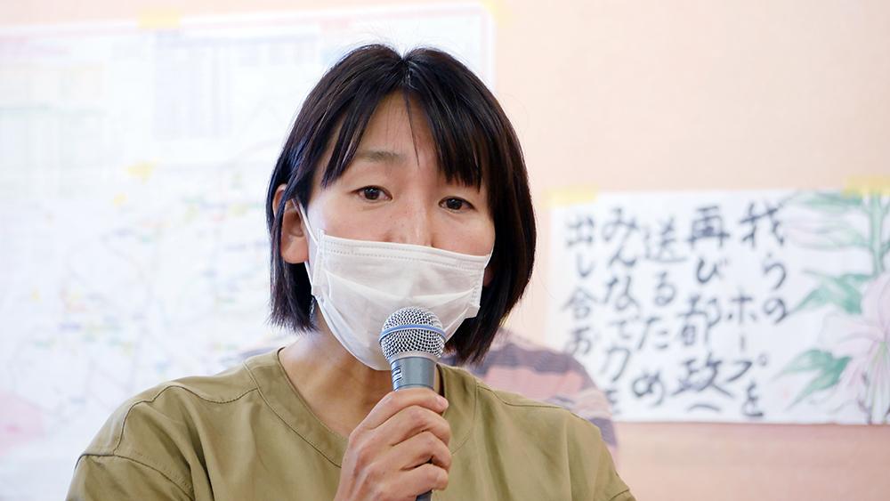応援スピーチ(5)しんかわ保育園OB 鎌塚由美さん_b0190576_20171570.jpg