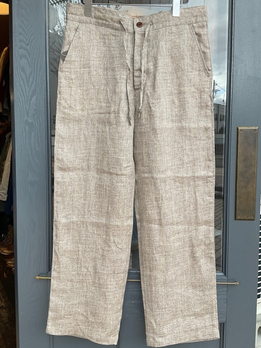 Dapper\'s classical pencil stripe linen easy pants_e0343648_23460856.jpeg