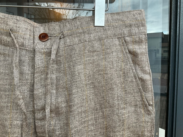 Dapper\'s classical pencil stripe linen easy pants_e0343648_23481020.jpeg