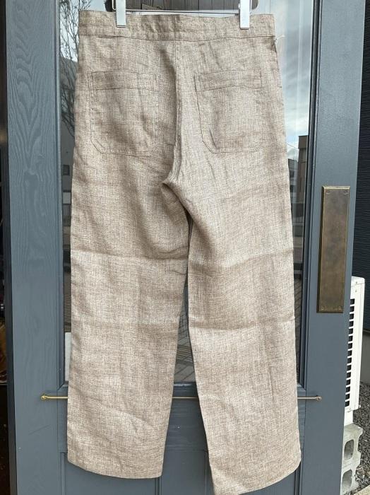 Dapper\'s classical pencil stripe linen easy pants_e0343648_23533967.jpeg