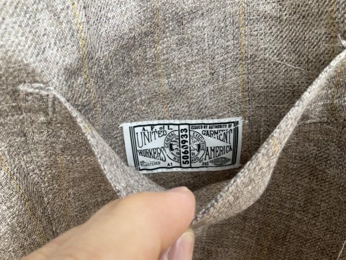 Dapper\'s classical pencil stripe linen easy pants_e0343648_23552432.jpeg