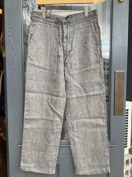 Dapper\'s classical pencil stripe linen easy pants_e0343648_23555983.jpeg
