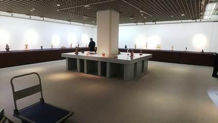 作業日誌(「50周年事業 日本彫刻会選抜展 -掌中の美-」作品搬入展示作業)_c0251346_16003092.jpg