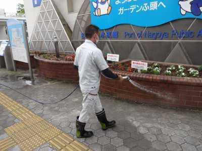 ガーデンふ頭総合案内所前花壇の植替えR3.5.24_d0338682_08595389.jpg