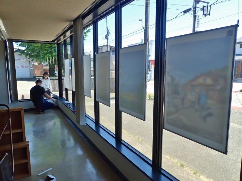 会館1階の窓辺にピクチャーレールを取り付けました_c0336902_21031295.jpg