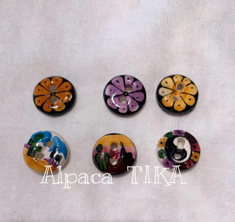 ペルーの陶製手描きボタン・陶製手描きビーズセット_d0187468_16475937.jpg