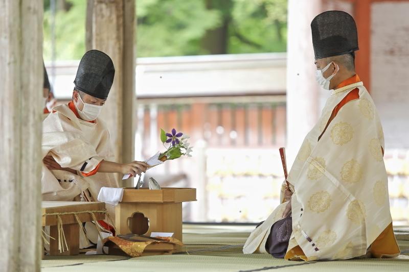 日吉大社 西本宮 庖丁まつり_c0196076_08374348.jpg