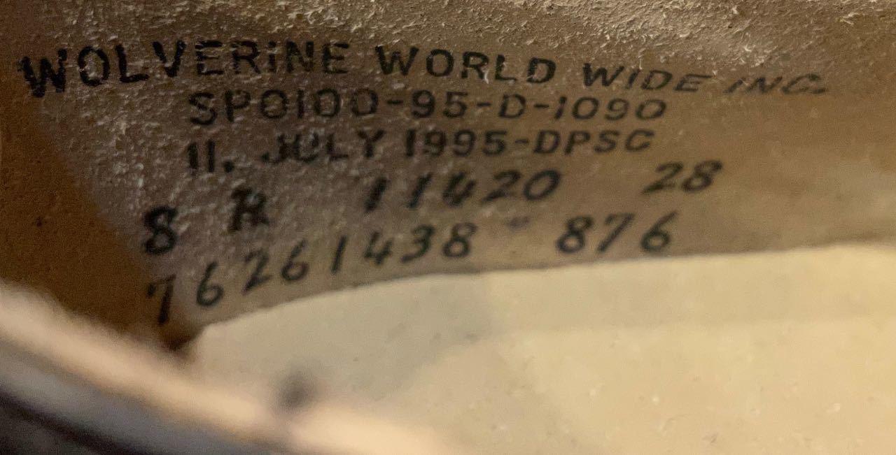 6月6日(日)入荷! 90s デッドストック  Wolverine 社製 U.S NAVY サービスシューズ! _c0144020_13000624.jpg