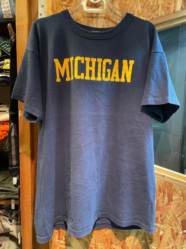 80s チャンピオン championトリコタグ ミシガン大学 all cotton  Tシャツ_c0144020_20552367.jpg