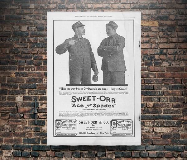 """N.O.S. 40\'s~ Sweet Orr \""""Ace of Spades\"""" H.B.T. overalls_e0343648_20343986.jpg"""
