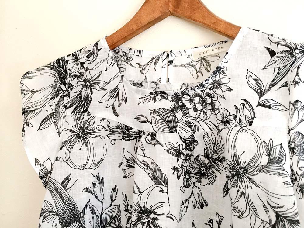 花柄リネンのチューリップ袖ブラウス_a0232169_20465094.jpg