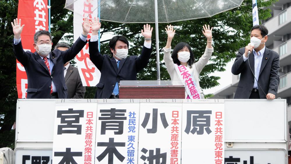 共産党街頭演説 原のり子の訴え(上)_b0190576_00413309.jpg