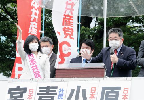 共産党街頭演説 原のり子の訴え(上)_b0190576_00420891.jpg
