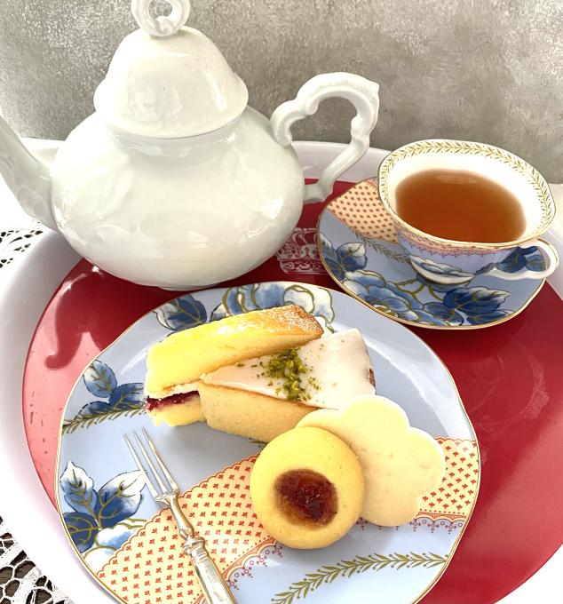 Cha Tea英国菓子セットでアフタヌーンティー_c0188784_17451169.jpeg