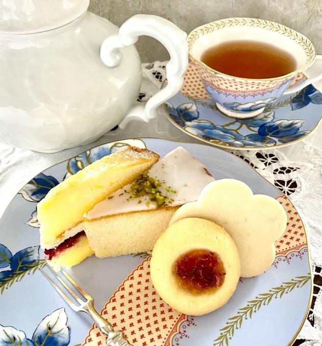 Cha Tea英国菓子セットでアフタヌーンティー_c0188784_17455849.jpeg
