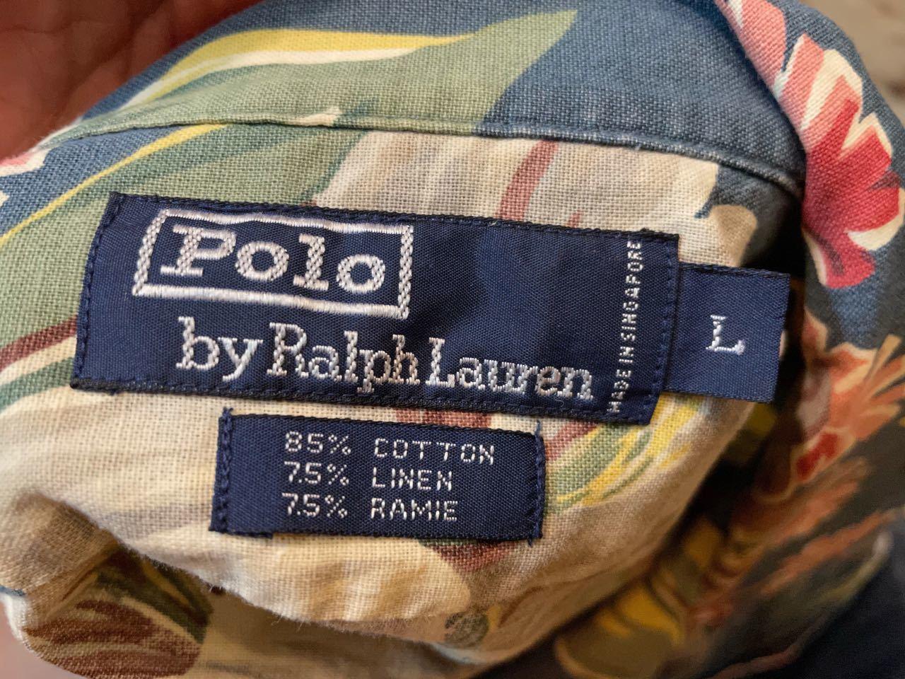 6月8日(火)入荷!Ralph Lauren フローラルプリント コットンリネン ハワイアンシャツ!_c0144020_15280141.jpg