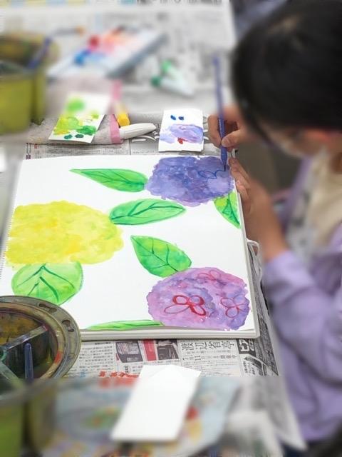アピタ稲沢、友遊カルチャー、日曜こども絵画教室1_f0373324_16205887.jpg