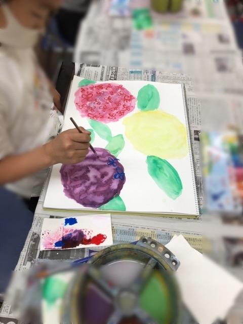 アピタ稲沢、友遊カルチャー、日曜こども絵画教室II_f0373324_16215510.jpg