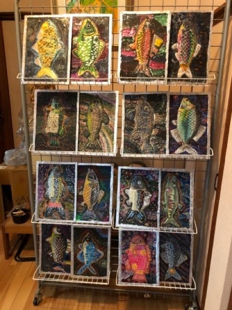稲沢教室、アルミの魚を展示しています。_f0373324_16235049.jpg