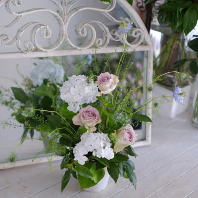 オークリーフ花の教室(山本さんと岡岸さんの作品)_f0049672_17545176.jpg