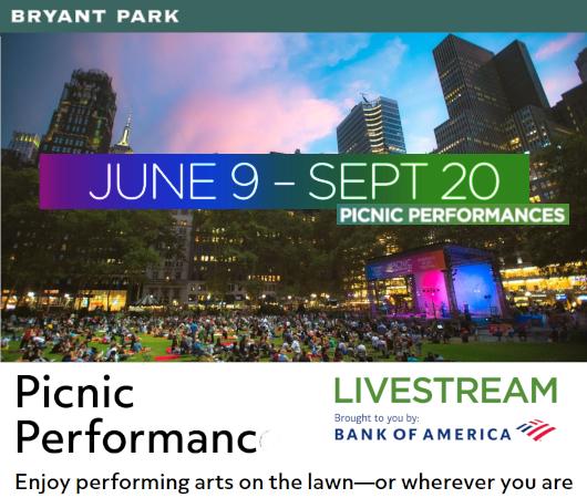 6/9~9/20までNYで無料の野外ライブ『ピクニック・パフォーマンス』(Picnic Performance)開催へ_b0007805_00205290.jpg