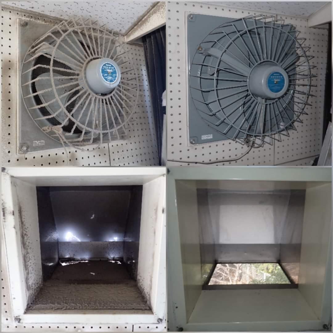 高所取付型換気扇の清掃_b0001143_20083722.jpg