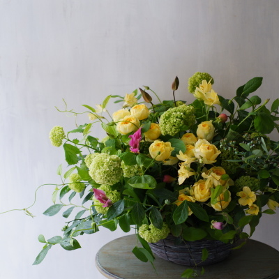 オークリーフ(黄色い薔薇をメインに)_f0049672_08304249.jpg