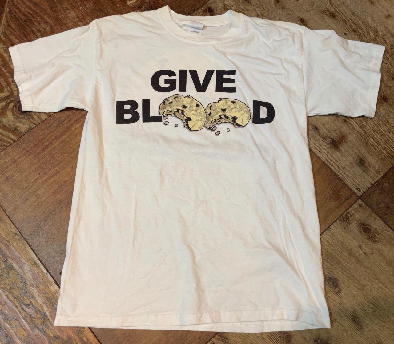 6月10日(木)入荷!00s〜GIVE BLOOD クッキープリント Tシャツ_c0144020_13292934.jpg