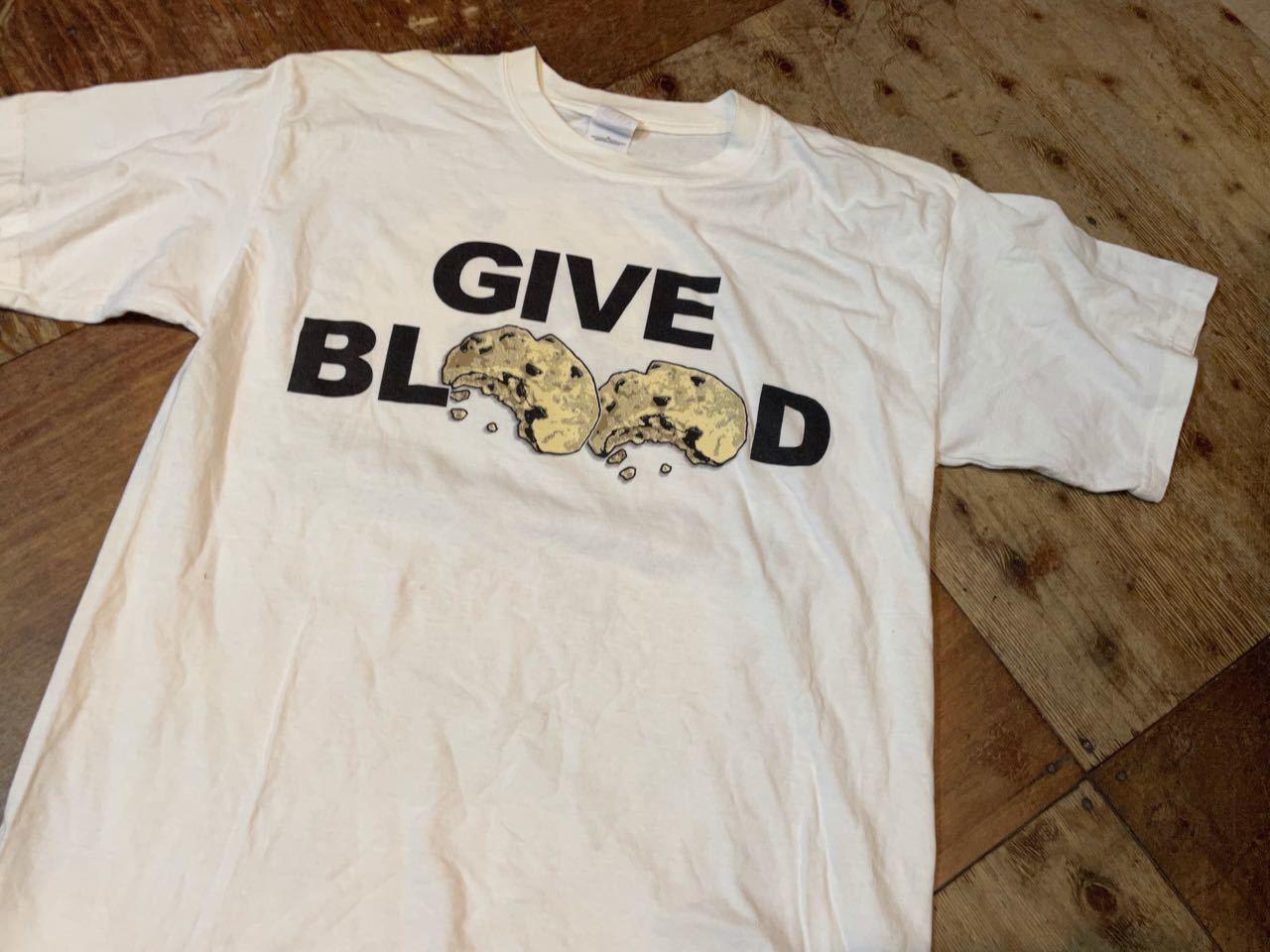 6月10日(木)入荷!00s〜GIVE BLOOD クッキープリント Tシャツ_c0144020_13293116.jpg