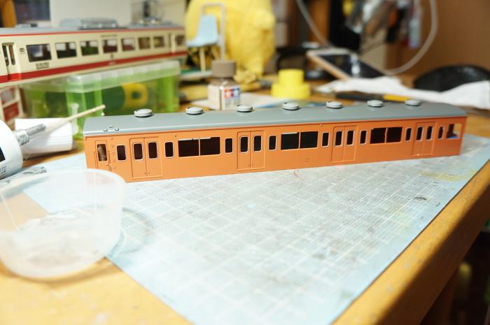【鉄道模型・HO】101系再生計画・7_c0162772_21360058.jpg