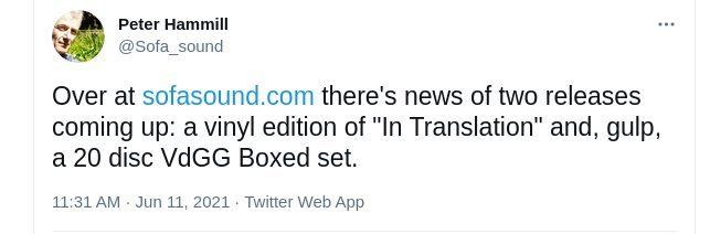 """ソファ・サウンド更新! 2021/06/11 ついに正式アナウンス! VdGG ボックス関連と\""""In Translation\"""" のLP_b0009391_23455613.jpg"""