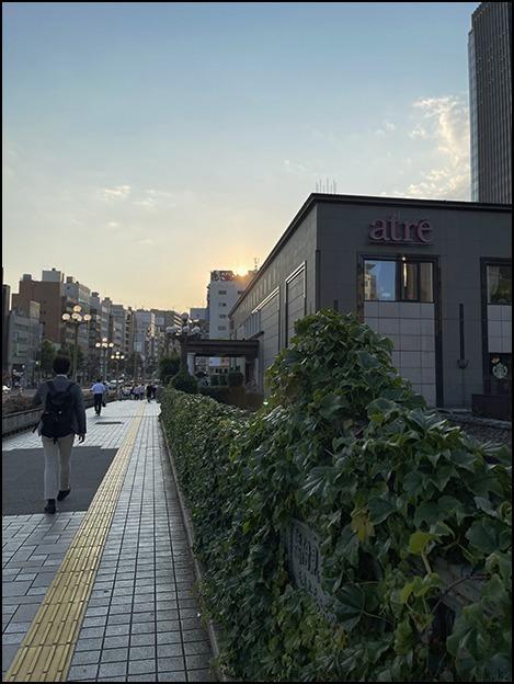 真夏日の夕陽をあびながら少し歩きました_a0031363_00535776.jpg