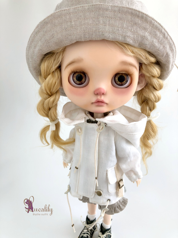 * lucalily * dolls clothes * White blouson set *_d0217189_11115256.jpeg