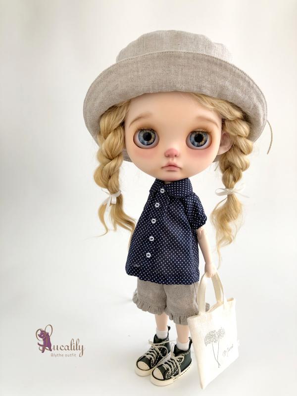 * lucalily * dolls clothes * White blouson set *_d0217189_11120564.jpeg