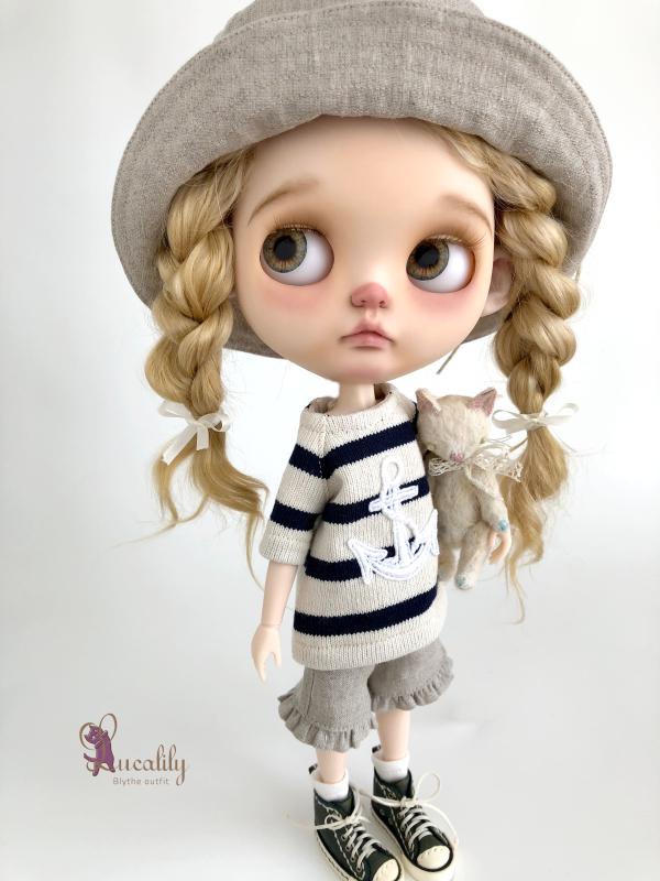 * lucalily * dolls clothes * White blouson set *_d0217189_11122486.jpeg