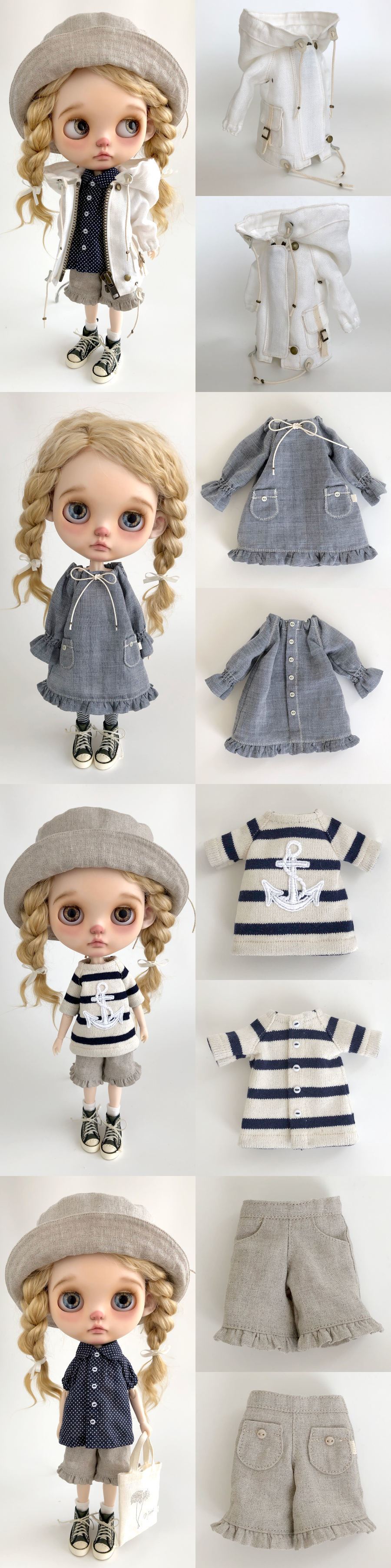 * lucalily * dolls clothes * White blouson set *_d0217189_11123259.jpg