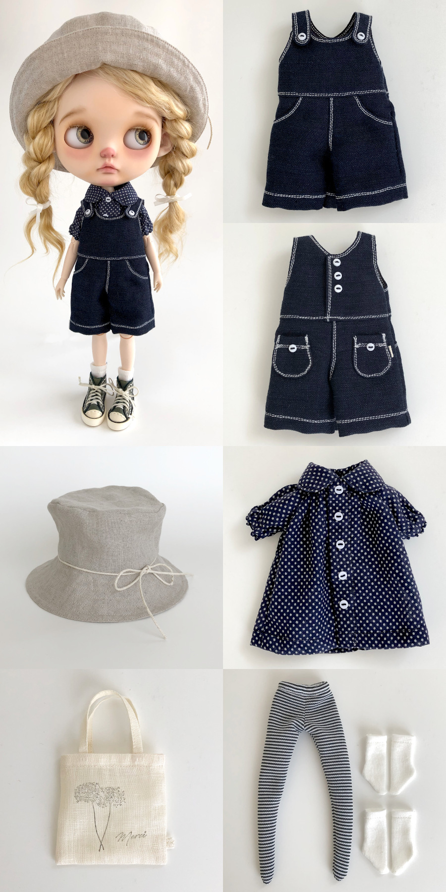 * lucalily * dolls clothes * White blouson set *_d0217189_11123671.jpg