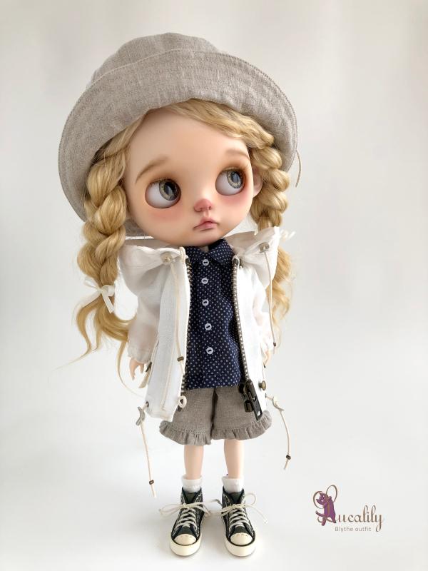 * lucalily * dolls clothes * White blouson set *_d0217189_11134195.jpeg