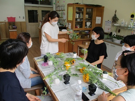 癒しの花時間 ~生花を使ったフラワーアレンジメント~_e0219012_14552387.jpg