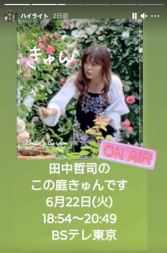 テレビ出演のお知らせ・・・田中哲司「のこの庭、きゅんです」_d0049381_21352113.png