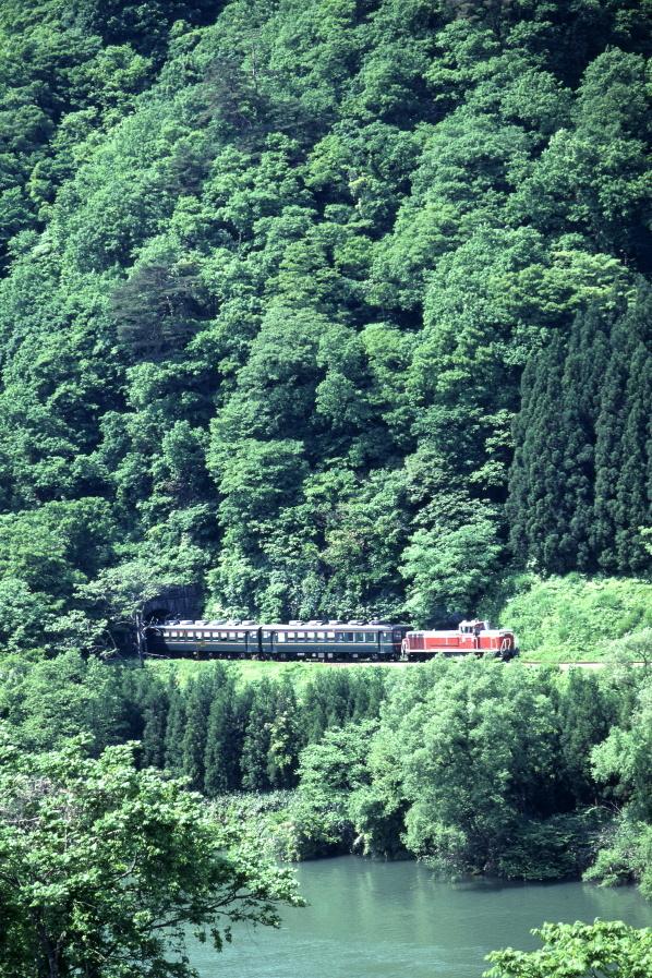 輝く新緑と赤い機関車 - 磐越西線・1992年 -_b0190710_20514875.jpg