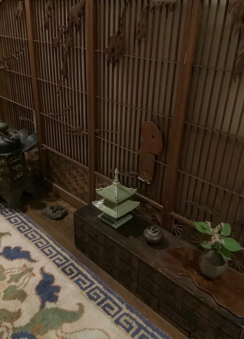 マンションの玄関廊下の室礼_a0269183_20565902.jpg