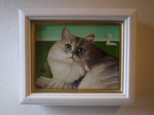 昨日から広島そごう店で、猫の手を借りた絵画展 が始まりました❗️_b0236186_09272969.jpeg