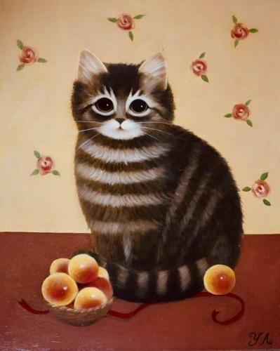 昨日から広島そごう店で、猫の手を借りた絵画展 が始まりました❗️_b0236186_09291446.jpeg