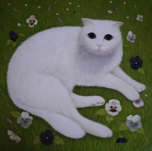 昨日から広島そごう店で、猫の手を借りた絵画展 が始まりました❗️_b0236186_09293618.jpeg