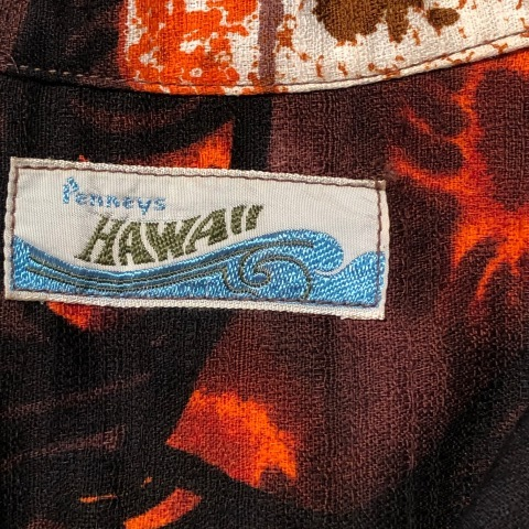 "1960-70s \"" Penneys - HAWAII - \"" 100% CTN - FLORAL BATIK pattern - VINTAGE HAWAIIAN SHIRTS ※ デッドストック_d0172088_20493505.jpg"