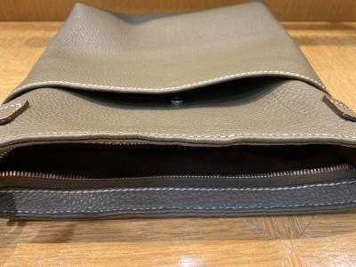 NEW COLOR SHRINK LEATHER POCHETTE HAND MADE IN JAPAN_d0155468_14475832.jpeg