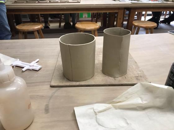 タタラ板作りで、円筒形のカップ試作、_b0232876_14191292.jpg