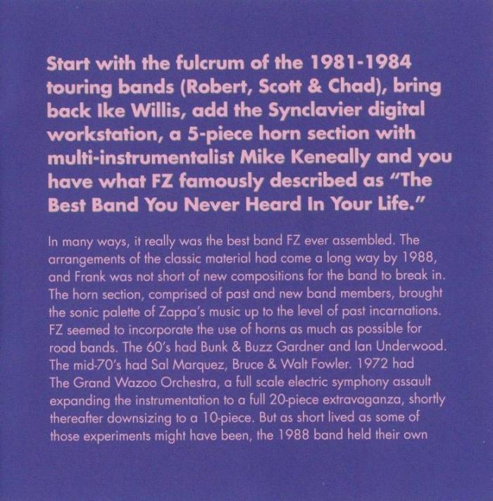 ZAPPA \'88: THE LAST U.S. SHOW (JZ)_c0058954_05120885.jpg