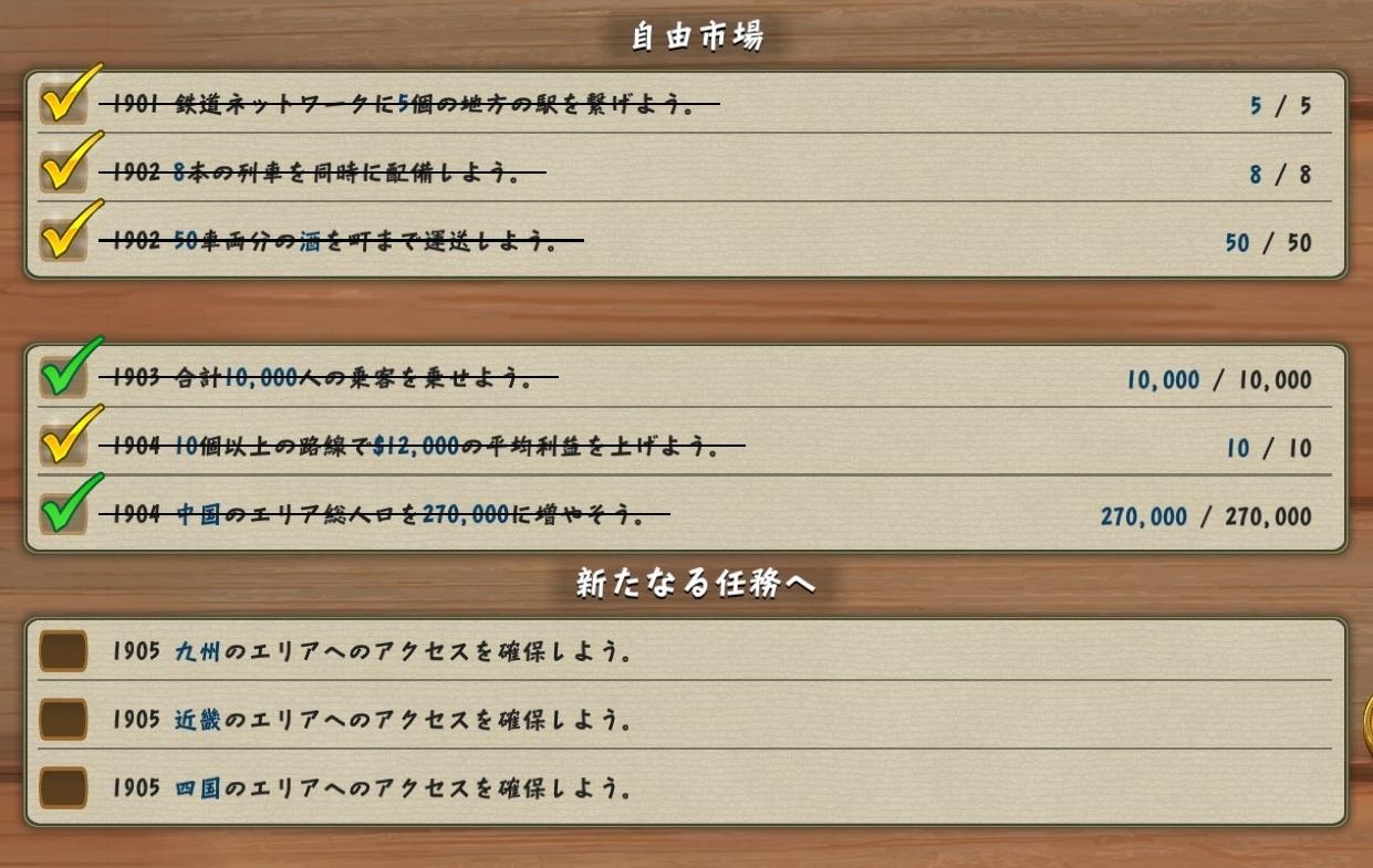 続『Railway Empire』日本DLC発売記念・シナリオ「曲がりくねった道」攻略ガイド的なもの_f0030574_14545208.jpg